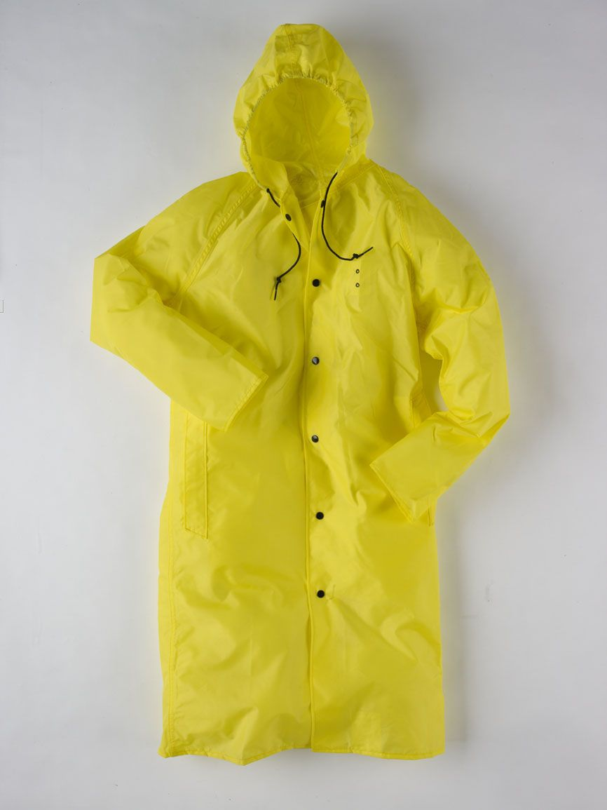 "Size XL Blk//Orange Neese Rainwear 48/"" Reversible Raincoat w// Snap Collar"