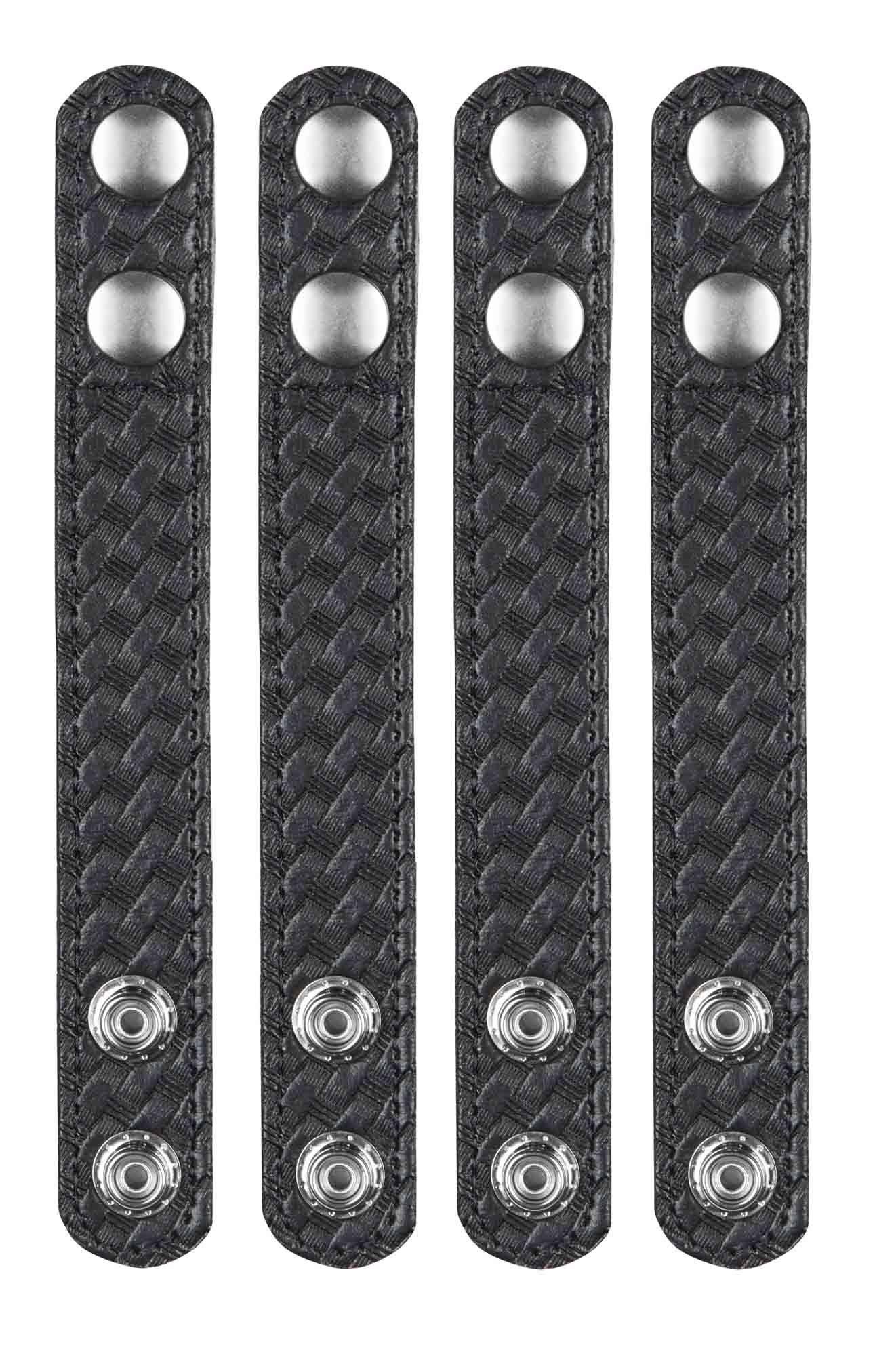 "Black 4 Pack Bianchi Accumold 1/"" Belt Keepers w// Black Snap Closure"
